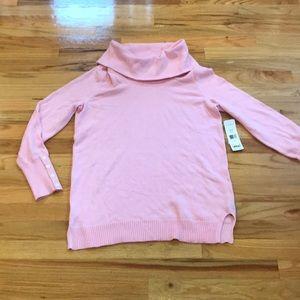 NWT Ralph Lauren Pink Sweater cowl neck Sz Large